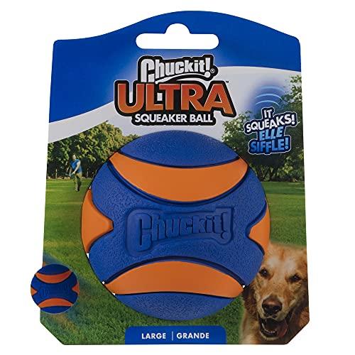 Chuckit! 52069 Ultra Squeaker Ball, 1 Pelota para Perros Compatible con el...