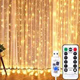 Amcsq Led Curtain String Lights USB with Remote for Bedroom Wedding (Multicolor)
