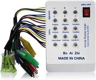 ZHANGLI E-Bike Tester 24V/36V/48V/60V/72V Brushless MotorTester with Indicator, Portable Riding Quick Battery Powered Spar...