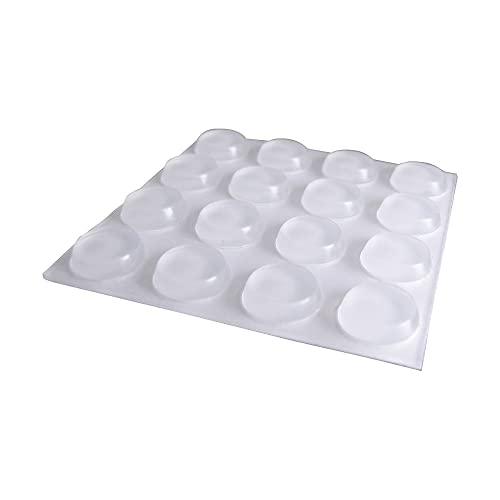 CLEAR SELF ADHESIVE RUBBER POLYURETHANE BUMPER BUMPONS CUPBOARD DOOR PADS 7.5 mm