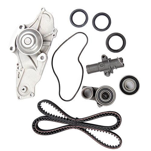 Timing Belt Kit including timing Belt water pump with gasket tensioner bearing etc,OCPTY Compatible for 08 09 10 Honda Odyssey/04 05 06 07 08 09 10 11 12 13 14 15 Honda Pilot