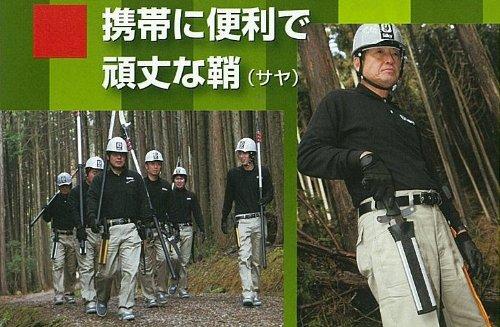 シルキー鉈ナタ両刃180mm本体ゴムハンドル555-18