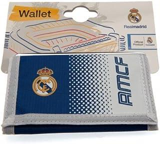 Official Real Madrid FC Gifts, Real Madrid FC - Cartera oficial de nailon para regalo de Navidad, regalo de cumpleaños para hombres y niños