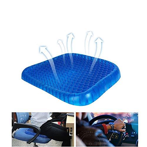 RONSHIN Universele Ademende Siliconen Gel Zitkussen Voor Auto Blauw Kantoor Kussen Cover Sitter Seat Massage Gezondheidszorg Auto Accessoires