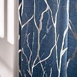 Kotile Cortinas de gasa azul marino para dormitorio – Cortinas con diseño de...
