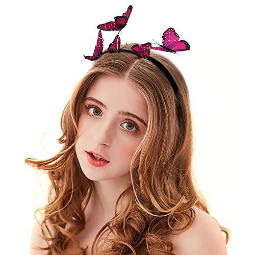 Zoylink Schmetterlings Stirnband Party Stirnband Exquisite Hair Hoop Party Headpiece für Frauen