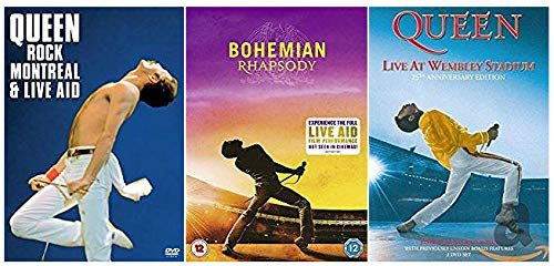 Queen Collection Volume 1 - Bohemian Rhapsody / Queen Rock Montreal & Live Aid / Live at Wembley 25th Anniversary