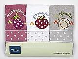 Vingi Set 3 Strofinacci da Cucina Art. Infinity, Spugna 100% Cotone, Misura 47 x 70 Colore...