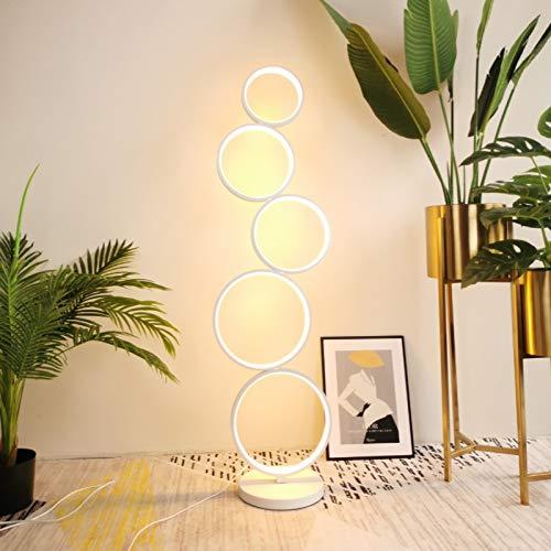 XUSHEN-HU Poupular creativo LED Lámpara de la sala de estar dormitorio línea vertical minimalista Negro Iluminación Lámparas Círculo simple moderna Moderno (Body Color : 45W neutral light)