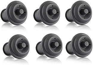 Vacu Vin Wine Saver Vacuum Stoppers, Set of 2 - Grey Set of 6 Gray