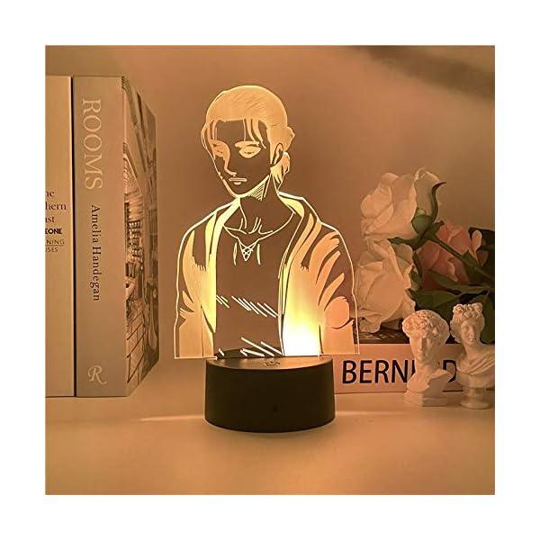 Yeager 2021 NEW 3D luce notturna in titanio per camera da letto dei bambini, decorazione della luce, tavolo di cambiamento, lampada da notte con attacco al titanio regalo ZGLQ 4 spesavip
