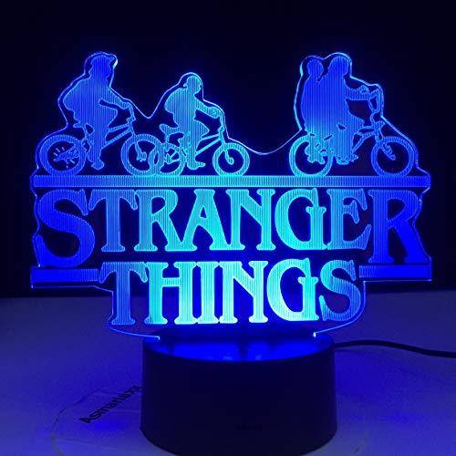LED noche luz multicolor dormitorio lámpara de mesa decoración regalo