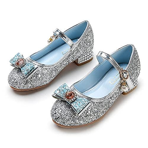 Eleasica Zapatos de Princesa para niñas, Zapatillas de Lentejuelas para Vestido Formal e Informal, Disfraz de Princesa para Cosplay, Zapatos de tacón para Baile, celebración, Regalo de cumpleaños