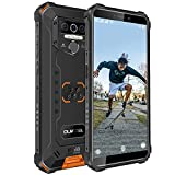 Outdoor Smartphone, OUKITEL WP5 PRO (2021) 4GB + 64GB 8000mAh Akku,5.5 Zoll IP68 Baustellenhandy,Android 10,Triple Kamera 4 LED Blitzlicht,Face/Fingerprint ID/Dual SIM Handy Wasserdicht(Orange)