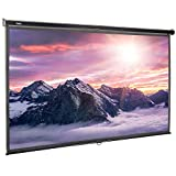VonHaus 120-Inch Pull-Down Projector Screen - 16:9 Aspect Ratio - 1.1 Screen Gain Rating – Home Cinema/Theatre - For Wall or Ceiling Mounting