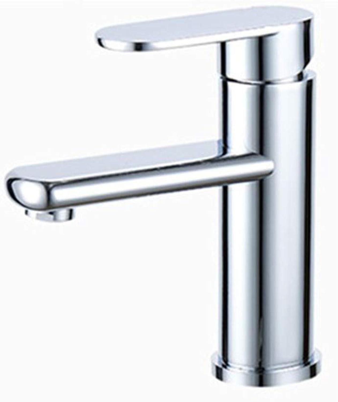Wasserhahn Badezimmer Badezimmer Vollkupfer Chrom Hoch, Kurz Optionaler Waschtischmischer Warmes Und Kaltes Becken Einhand-Wasserhahn, Kurz