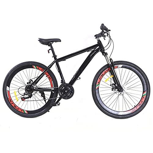 Mountain-Bike - 26-Zoll 21 Gang Fahrräder,Desert MTB,Aluminium Mountainbike für Mädchen, Jungen, Herren und Damen Schwarz 19,1kg