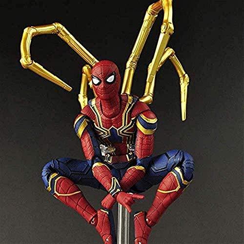 YSDHE Iron Spiderman Model Toy - Avengers Infinity War 15cm Spider-Man Figura de acción - Personaje articulado móvil Juguetes de Regalo de cumpleaños para niños