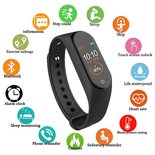 SBA VA- 250805 Smart | Intelligent M4 Fitness | Activity | Tracker | Band Steps, Calorie - Step Counter, Blood Pressure, Heart Rate – Sleep Monitor OLED Screen for Men/Women/Boys/Girls