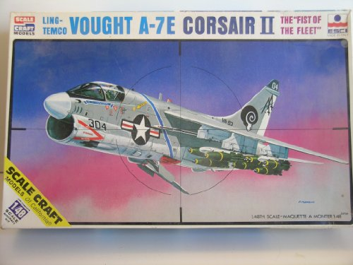 "Scale Craft/Esci Models ""Ling-Temco Vought A-7E Corsair II"" Plastic Model Kit"