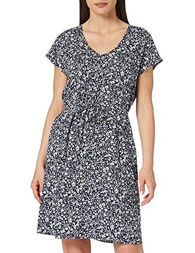 TOM TAILOR Denim Damen 1024957 Basic Kleid, Blue Flower Print (16355), S