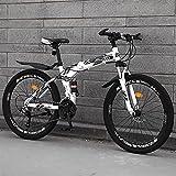 Bicicleta Plegable Off-Road Bicicleta De Velocidad Variable Bicicleta De Montaña Bicicleta Plegable Dos Ruedas Amortiguadores Masculinos Y Femeninos Bicicleta Juvenil para Estudiantes 24 Pulgadas Mon