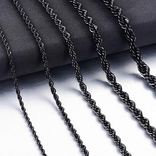 Cadena de Cuerda de Acero Inoxidable Hip-Hop Joyería de Moda para Hombres y Mujeres