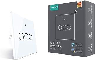 MoesGo WiFi Smart Touch Switch a parete con 1 via o Associazione multi-controllo (2 vie), Stato relè opzionale, Lavora con...
