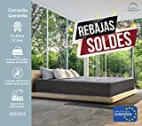 Lisabed Flex   Colchón Ito-Flex 150 x 190 cm   Muelles Ensacados   Viscoelástico   Reversible Verano-Invierno   Gama Prestige Hotel   27 cm (+/- 2 cm)