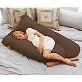 Cozy Comfort Pregnancy Pillow - Espresso
