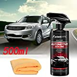 Ceramic Top Coat Care 500ml,Ceramic Kit de Protection Ceramique, Agent de revêtement Automobile Nano Liquid 99 Spray de Finition, Revêtement de Verre Super hydrophobe
