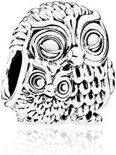 SUNWIDE Animal Owl Charm Fit Pandora Charms Bracelets