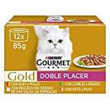 Purina Gourmet Gold Doble Placer comida para gatos Surtido sabores 8 x [12 x 85 g]