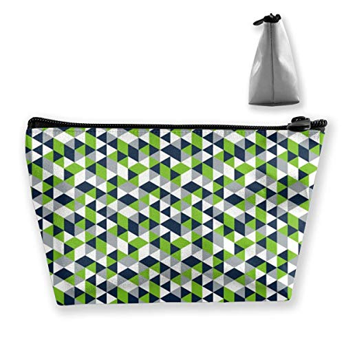 Trapezoid Makeup Pouch Storage Holder Geometric Seahawk Womens Travel Case Cosmetic Makeup Pouch
