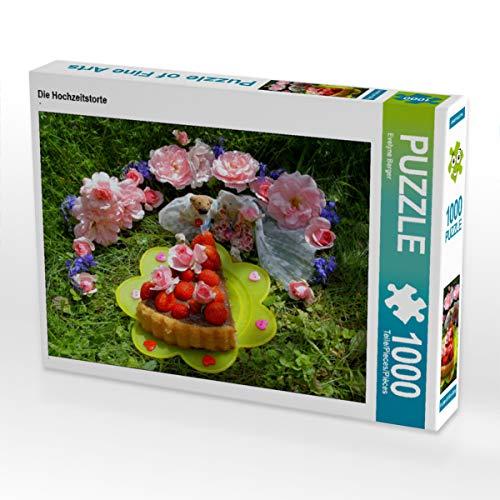 CALVENDO Puzzle Die Hochzeitstorte 1000 Teile Lege-Größe 64 x 48 cm Foto-Puzzle Bild von Evelyne Berger
