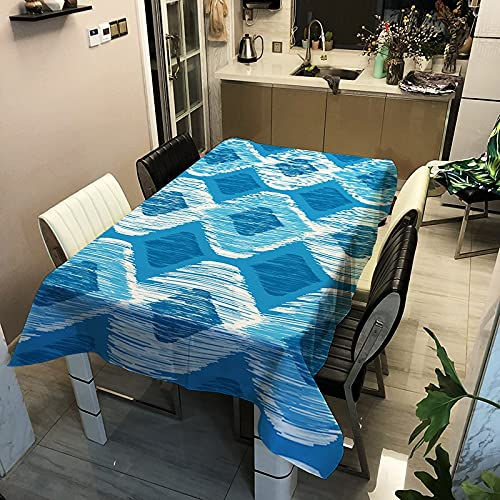 Géométrie Impression Couverture de Table pour nappes rectangulaire Salle à Manger décor Cuisine Article Salon Table décor étanche A7 140x200 cm