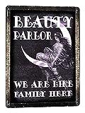 New Vintage Metal Tin Sign Beauty Shop Decor Manicure Metal Sign Nail Salon Hair Stylist Garage Home Kitchen Bar Pub Hotel Wall Decor Signs 12X8Inch