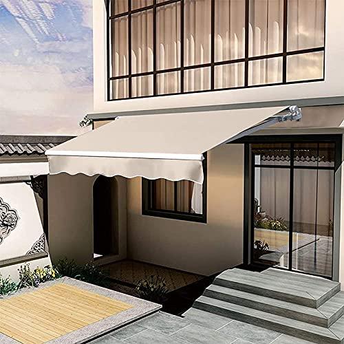 DHHZRKJ Toldo retráctil para Patio de 8.2'x6.5 ', toldo para Puerta, Ventana, Parasol con manivela, toldo de terraza para balcón al Aire Libre Resistente al Agua, Anti-UV