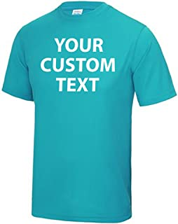 Printed Custom Personalised Performance Polyester T Shirt Kids and Adults Custom 100% Polyester Custom Text Print Training...
