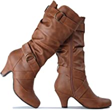 Guilty Heart | Womens Comfortable Winter Strappy Slouchy Buckle Heeled Boots