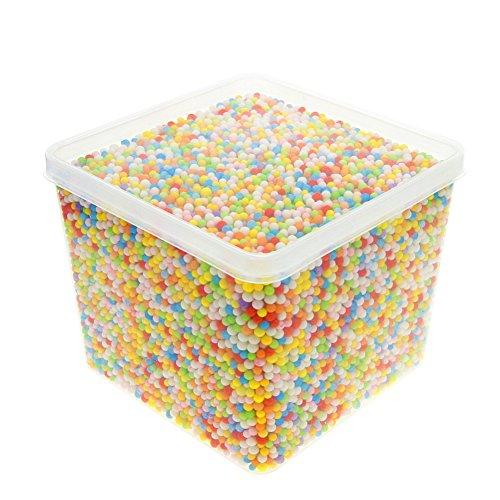 EUIRISTORE Bolas de espuma de poliestireno de 0.1 – 0.14 pulgadas para manualidades domésticas, escuelas, colores mezclados (20000 bolas de espuma)