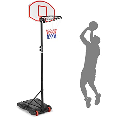 Ablerfly Kids Basketball Stand,97-170cm Basketball Stand Height Adjustable Basketball Hoop Kids Basketball Rack With Scoring Device For Children