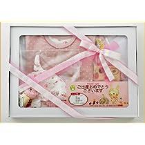 【アナノカフェ】穴原 里映デザインの可愛いベビー服  贈り物 ギフトセット 新生児からのベビー用品各種 カーディガン 帽子 腹巻き*出産祝いやギフトにもどうぞ (ピンク)