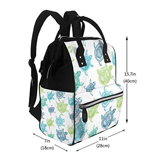 Mochila multifunción para mamá, diseño de estrellas de mar, color turquesa, para cambiar, bolsa de maternidad, impermeable, de viaje, gran capacidad