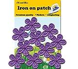 10Luz morado (Kladno) flor Hierro O, bordado, decorativo parches, Fashion Set