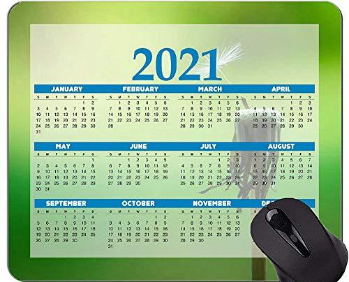 Alfombrilla de ratón con Calendario 2021, Alfombrillas de ratón con Semillas Macro de Diente de león