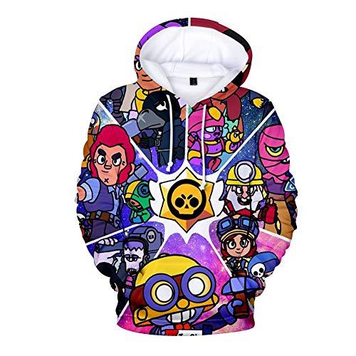 Dsti 3D strategisch spel wedstrijddruk pullover mode hoodie lange mouwen shirt unisex zakken
