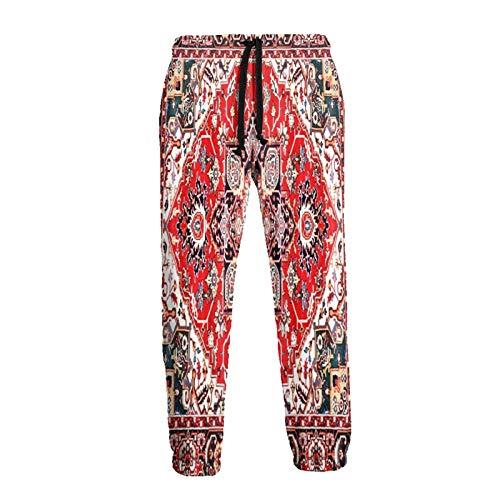 Inaayayi Pantalones deportivos deportivos con estampado floral oriental, detallado, con estampado clásico, persa, para hombre y mujer, con cordón