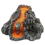 UKCOCO Decoración de acuario de resina volcánica, decoración de acuario