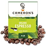 Cameron's Coffee Roasted Whole Bean Coffee, Organic Espresso, 4 Pound